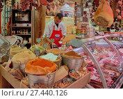 Купить «Europe, Greece, Athens, Central market ,», фото № 27440126, снято 19 мая 2016 г. (c) age Fotostock / Фотобанк Лори