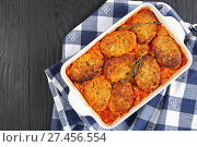 Купить «Quick and easy couscous fish patties», фото № 27456554, снято 19 января 2018 г. (c) Oksana Zh / Фотобанк Лори