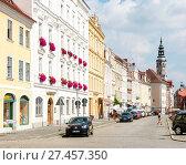 Купить «Tourists the historic old town of Görlitz», фото № 27457350, снято 24 января 2018 г. (c) age Fotostock / Фотобанк Лори