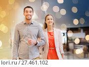 Купить «happy young couple with shopping bags in mall», фото № 27461102, снято 10 ноября 2014 г. (c) Syda Productions / Фотобанк Лори