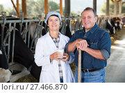 Купить «Quality experts are standing in uniform», фото № 27466870, снято 24 октября 2017 г. (c) Яков Филимонов / Фотобанк Лори