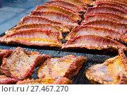 Ruddy pork ribs with a crust. Стоковое фото, фотограф Яков Филимонов / Фотобанк Лори