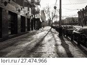 Купить «Улица Ленина в центре города Уфа в зимний день», фото № 27474966, снято 26 января 2018 г. (c) Коротнев / Фотобанк Лори
