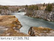 Купить «Мраморный каньон Рускеала ранней весной, Карелия», фото № 27505782, снято 4 мая 2013 г. (c) Юлия Бабкина / Фотобанк Лори