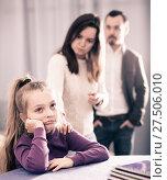 Купить «Parents lecturing daughter», фото № 27506010, снято 27 марта 2019 г. (c) Яков Филимонов / Фотобанк Лори