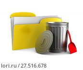 Купить «Removal of information on white background. Isolated 3D illustration», иллюстрация № 27516678 (c) Ильин Сергей / Фотобанк Лори