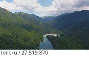 Купить «Aerial view on Lake Biograd, Montenegro», видеоролик № 27519870, снято 17 декабря 2017 г. (c) Михаил Коханчиков / Фотобанк Лори