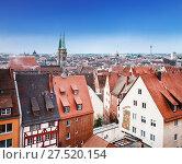 Купить «Вид сверху на город Нюрнберг Бавария, Германия», фото № 27520154, снято 24 декабря 2012 г. (c) Наталья Волкова / Фотобанк Лори