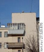 Купить «Пятиэтажный кирпичный жилой дом, построен в 1928 году (относится к жилому массиву «Дангауэровка»). Авиамоторная улица, 49/1 . Район Лефортово. Город Москва», эксклюзивное фото № 27520870, снято 25 января 2018 г. (c) lana1501 / Фотобанк Лори