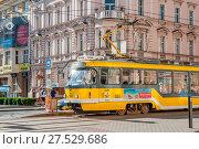 Купить «Tramway in Plzen», фото № 27529686, снято 19 ноября 2019 г. (c) age Fotostock / Фотобанк Лори