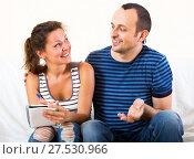Купить «Positive man and woman», фото № 27530966, снято 26 февраля 2020 г. (c) Яков Филимонов / Фотобанк Лори