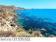 Sea beach near Rocca di San Nicola, Agrigento, Sicily, Italy (2017 год). Стоковое фото, фотограф Юрий Брыкайло / Фотобанк Лори