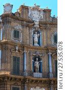 Купить «Quattro Canti square, Palermo, Sicily, Italy», фото № 27535078, снято 15 июня 2017 г. (c) Юрий Брыкайло / Фотобанк Лори