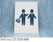 Купить «business people meeting icon with briefcase», фото № 27539846, снято 23 января 2019 г. (c) Wavebreak Media / Фотобанк Лори