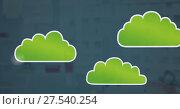 Купить «cloud icons with muted background», фото № 27540254, снято 25 февраля 2018 г. (c) Wavebreak Media / Фотобанк Лори