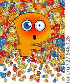 Купить «Символ российского рубля. Эмоции», эксклюзивная иллюстрация № 27546126 (c) Александр Павлов / Фотобанк Лори