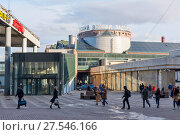 Купить «Площадь перед Ладожским вокзалом. Санкт-Петербург», эксклюзивное фото № 27546166, снято 11 апреля 2017 г. (c) Александр Щепин / Фотобанк Лори
