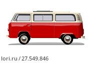 Купить «Vector retro van», иллюстрация № 27549846 (c) Александр Володин / Фотобанк Лори