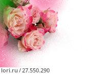 Купить «Flower pink roses», фото № 27550290, снято 8 марта 2016 г. (c) ElenArt / Фотобанк Лори