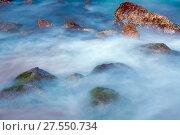 Sea rocks in haze at sunset. Стоковое фото, фотограф Яков Филимонов / Фотобанк Лори