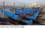 Купить «Gondolas on Canal Grande, San Marco, Venice», видеоролик № 27572102, снято 10 сентября 2017 г. (c) Михаил Коханчиков / Фотобанк Лори