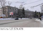Купить «Здание Томского политехнического института», фото № 27574478, снято 30 января 2018 г. (c) Максим Гулячик / Фотобанк Лори