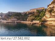 Купить «Port of Bonifacio, Corsica island, France», фото № 27582002, снято 3 июля 2015 г. (c) EugeneSergeev / Фотобанк Лори
