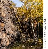 Купить «Bodetal Tor im Herbst Harz», фото № 27599294, снято 23 июля 2019 г. (c) PantherMedia / Фотобанк Лори