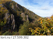 Купить «Bodetal Tor im Herbst Harz», фото № 27599302, снято 23 июля 2019 г. (c) PantherMedia / Фотобанк Лори