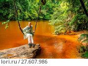 Купить «Girl on a jungle swing», фото № 27607986, снято 27 марта 2019 г. (c) easy Fotostock / Фотобанк Лори