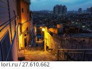 Купить «Haebangchon narrow alleyway», фото № 27610662, снято 17 февраля 2019 г. (c) PantherMedia / Фотобанк Лори