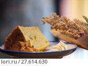 Купить «Selective focus, Chiffon cake on nice dish cutting board», фото № 27614630, снято 22 января 2019 г. (c) PantherMedia / Фотобанк Лори