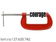 Купить «Compressed courage concept», фото № 27620742, снято 19 июля 2019 г. (c) PantherMedia / Фотобанк Лори