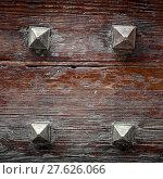 Купить «Four iron nails», фото № 27626066, снято 24 апреля 2019 г. (c) PantherMedia / Фотобанк Лори