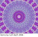 Купить «Abstract geometric seamless background. Delicate concentric circles pattern in pink, violet and purple shades, ornate and dreamy.», фото № 27627394, снято 20 июля 2018 г. (c) PantherMedia / Фотобанк Лори