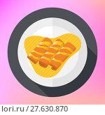 Купить «Crepes pancakes honey syrup flat.», фото № 27630870, снято 24 апреля 2018 г. (c) PantherMedia / Фотобанк Лори