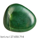 tumbled green Nephrite (jade) mineral gemstone. Стоковое фото, фотограф Valery Vvoennyy / PantherMedia / Фотобанк Лори