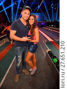 Купить «German RTL2 Live TV show 'Der grosse RTL2 Promi-Kegelabend' at Kegel-Tanz-Palast. Featuring: Pietro Lombardi, Sarah Lombardi Where: Winterberg, Germany When: 31 Jul 2016 Credit: WENN.com», фото № 27651210, снято 31 июля 2016 г. (c) age Fotostock / Фотобанк Лори