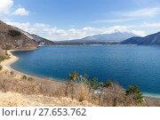 Купить «Mountain Fuji and lake», фото № 27653762, снято 23 июля 2019 г. (c) PantherMedia / Фотобанк Лори