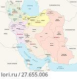 Купить «iran administrative and political map, regions», иллюстрация № 27655006 (c) PantherMedia / Фотобанк Лори