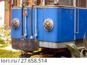 Купить «Blue train», фото № 27658514, снято 21 октября 2018 г. (c) PantherMedia / Фотобанк Лори