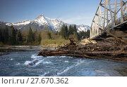 Купить «Whitehorse Mountain North Cascades Darrington WA Sauk River», фото № 27670362, снято 19 августа 2019 г. (c) PantherMedia / Фотобанк Лори