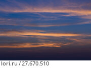 Купить «Dramatic sky with cloud in evening,», фото № 27670510, снято 18 июня 2019 г. (c) PantherMedia / Фотобанк Лори
