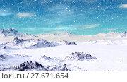 Купить «Alien Planet. Mountain. Animation. Panorama. 4K», видеоролик № 27671654, снято 10 февраля 2018 г. (c) Parmenov Pavel / Фотобанк Лори