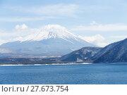 Купить «Lake motosu and fujisan», фото № 27673754, снято 16 июля 2019 г. (c) PantherMedia / Фотобанк Лори
