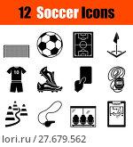 Купить «Set of soccer icons», иллюстрация № 27679562 (c) PantherMedia / Фотобанк Лори