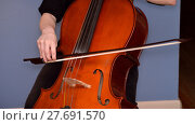 Купить «Cellist playing cello», фото № 27691570, снято 24 февраля 2018 г. (c) PantherMedia / Фотобанк Лори