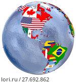 Купить «Political Americas map», фото № 27692862, снято 26 апреля 2019 г. (c) PantherMedia / Фотобанк Лори