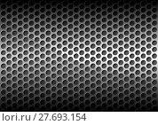 Купить «Chrome Perforated Metal Grid», иллюстрация № 27693154 (c) PantherMedia / Фотобанк Лори