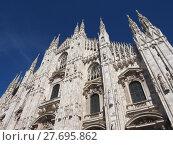 Купить «Duomo di Milano Cathedral in Milan», фото № 27695862, снято 13 декабря 2018 г. (c) PantherMedia / Фотобанк Лори